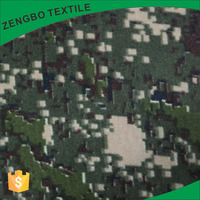 Cheap green camouflage printed polar fleece china fabric market wholesale