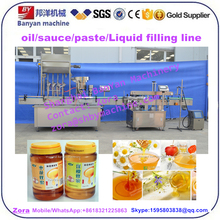 50ml 100ml 1000ml Automatic small big bottle olive oil/ honey filling capping labeling machine line price
