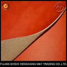 High peel strength suede backing artificial leather for making shoes