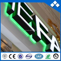 Outdoor green light back lit and front lit mini led advertising boards for sale