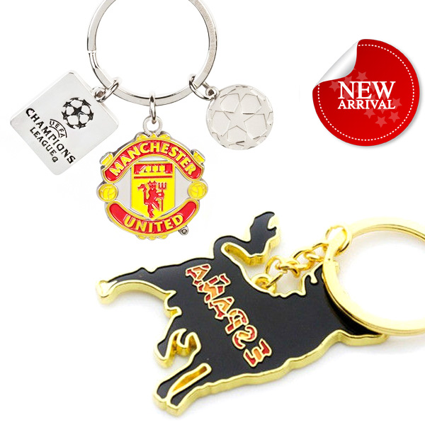 Custom promotion metal keychain madrid spain souvenirs