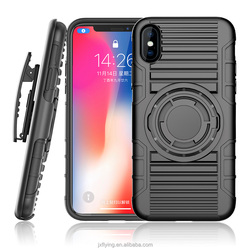 Newest 8 in 1 multifunction robot armor case with ring kickstand bike mount cases car holder casing for iPhone X