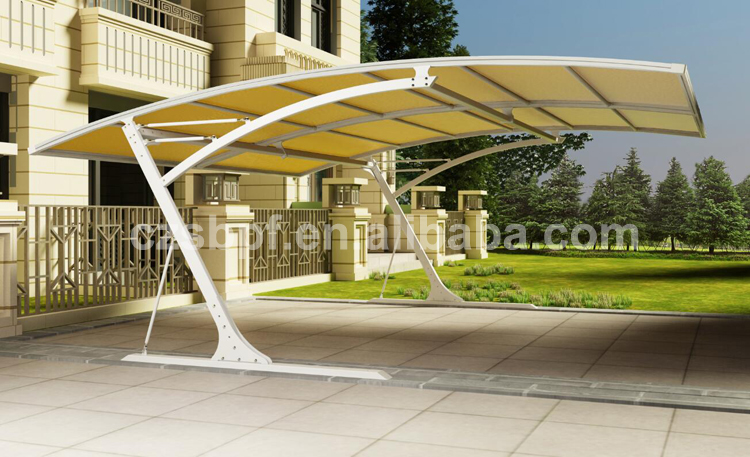Modern aluminium carport with cantilever roof