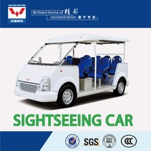 cheap smooth shape customizable 8 seater electric sightseeing car for restaurant