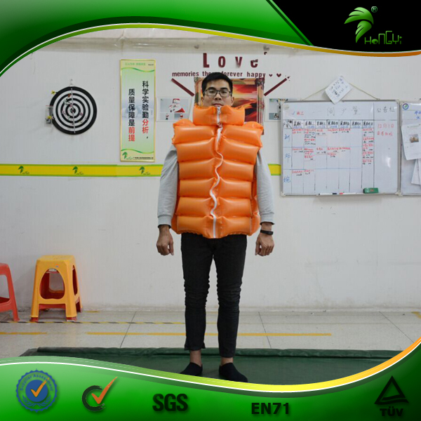 High Quality Rescue Inflatable Swim Vest Personalized Inflatable Life Jacket Swim Suit