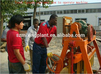 QT40-3B manual block making machine cement interlocking brick brick