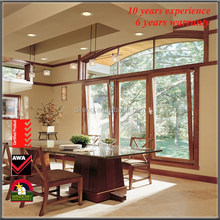 Aluminum Alloy Tilt and Turn Window Screen Tall Windows Double Hinged Interior Decorative House Windows with Tinted Glass