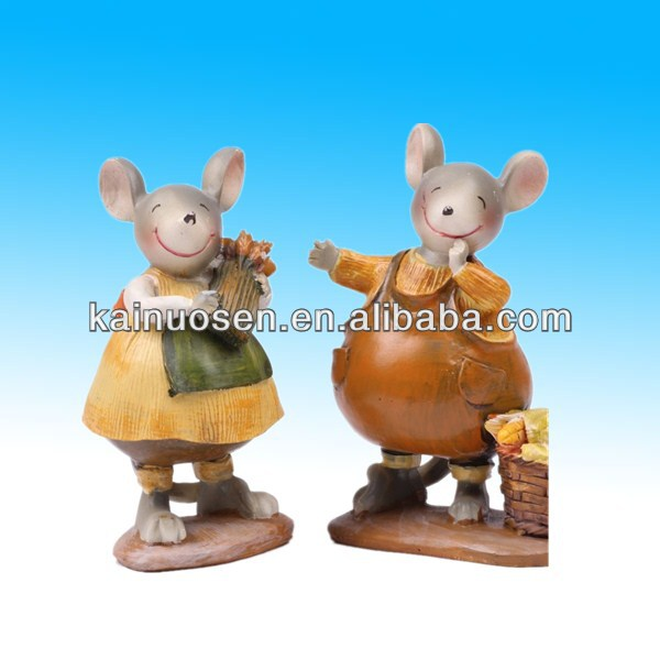 polyresin figure mouse for home decoration