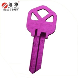 Extremely High quality US type Pink alumium KW1 key blank for American door lock market