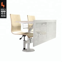 Modern school Furniture double student desk and chair set classroom and lectual hall TC916-E