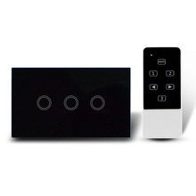50pcs US AU Standard Tempered Glass wifi Touch wall light switch Remote Control Switch smart home automation system