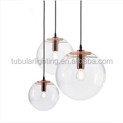 Modern Overhead Lamp Globe Glass Wooden Pendant Light Decorative Hanging Home Suspension Light