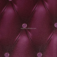 leather like 3d efect red colors pvc wallpaper