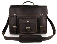 7234R-1 JMD Hard Shell Laptop men Real Italian Leather Briefcase