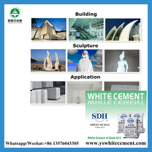 Construction material white cement price list