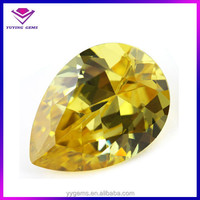 Synthetic 8*12mm Pear Cut Yellow Topaz Gemstone Price