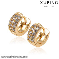 91692 fashion luxury earrings crystal diamond 18K gold jewelry earring european style women earrings jewelry