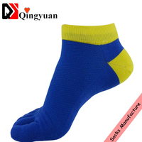 men Outdoor sports 100 cotton athletic socks full teryy five toe socks cozy spring socks