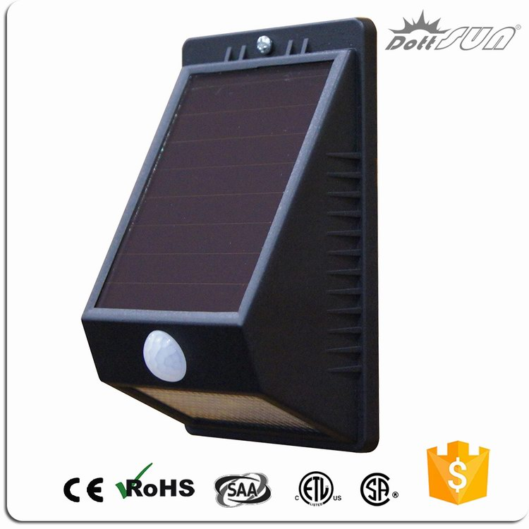 led battery and solar powered home entry led flood light with sensors