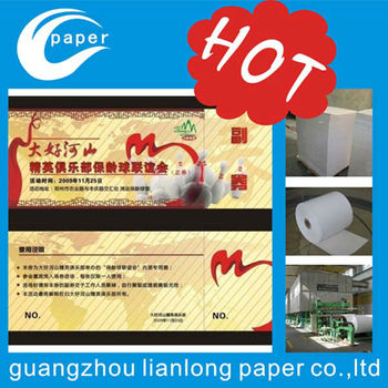 Supply watermark security tickets manufacture