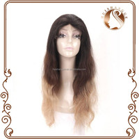Unprocessed 100 human hair wavy virgin remy ombre brazilian hair full lace wig