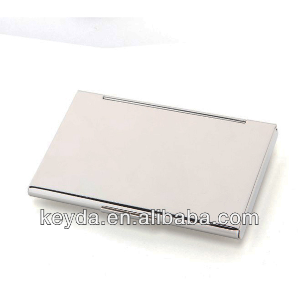 MEN AND WOMEN Fashion business metal card case,100% stainless steel card holders,promotion gifts. LOGO OEM