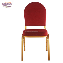 China manufacturer offer cheaper hotel stackable plastic/metal banquet chair with aluminum legs and wedding chair covers