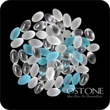 Transparent Mixed Color Glass Colorful Pebbles For Decoration, Glass Cobblestone