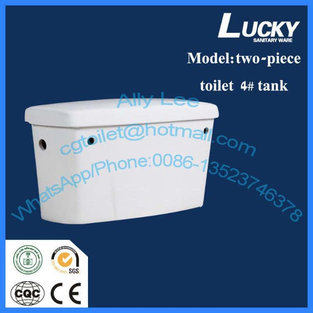 Henan Lucky ceramic toilet two piece back to wall p trap wc