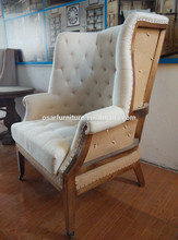 Solid wood arm chairs low back wood chair antique wood chair