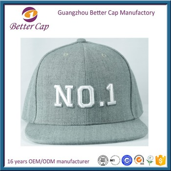 Guangzhou factory made embroidery custom plain snapback