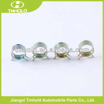 stainless steel spring band pipe clamp with 15.5-17.9mm ID-OD