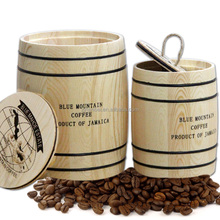Custom Logo Small Wooden Coffee Barrels 80g