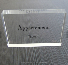 wholesale custom clear engraved acrylic logo block