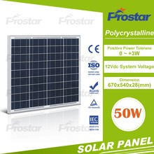 high efficiency grade A 50w poly photovoltaic solar panel