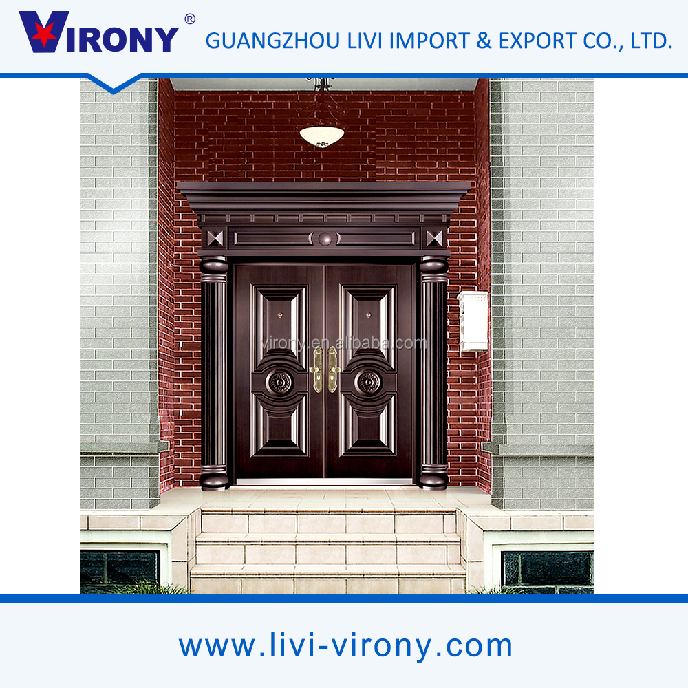 Hot sale sound insulation cheap metal double doors exterior