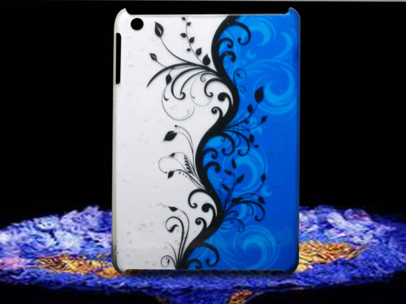 Blue vines droplet style for ipad case