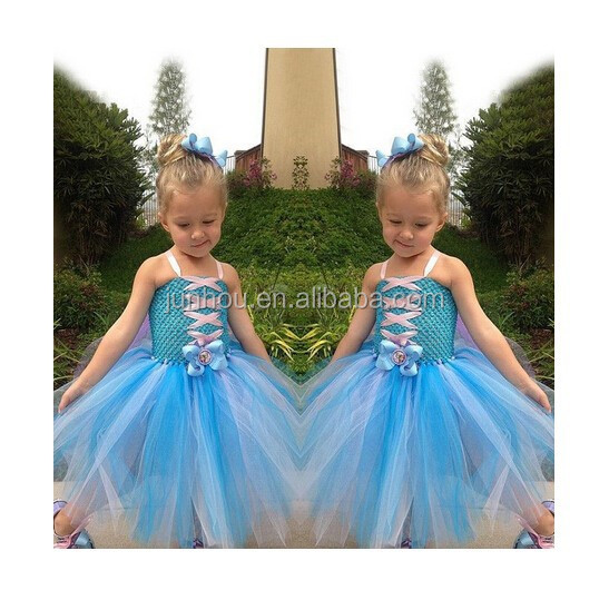 Instyles fashion Cheap wholesale Cute Design Frozen Baby Girls Summer Dress Lat Party Wear Dresses For Gir