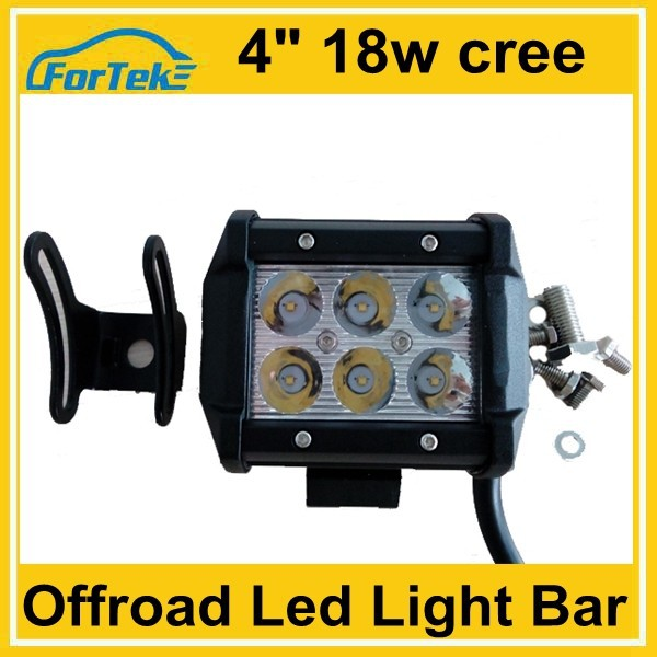 wholesale off road 4inch 18w cree led light bar 4wd dc 8-30V