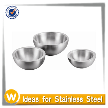 3 PCS Stainless Steel Double Wall Mixing Bowl Set