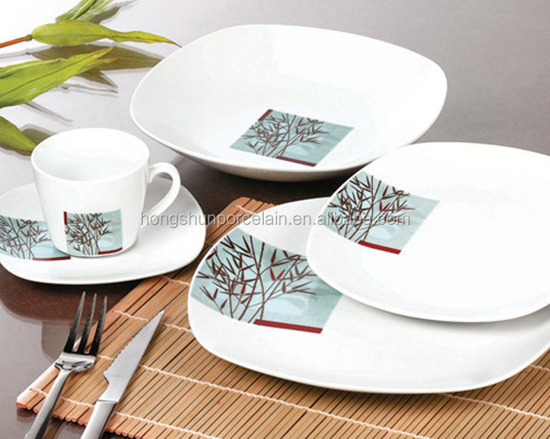 mexican square ceramic dinnerware sets cheap price dinnerware sets red