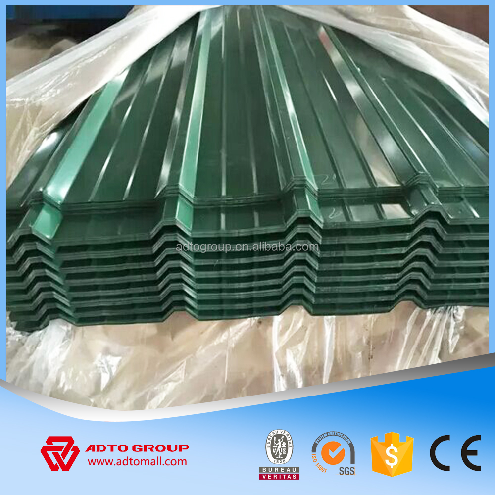 High quality building materials 40g zinc coating corrugated steel roofing sheets price