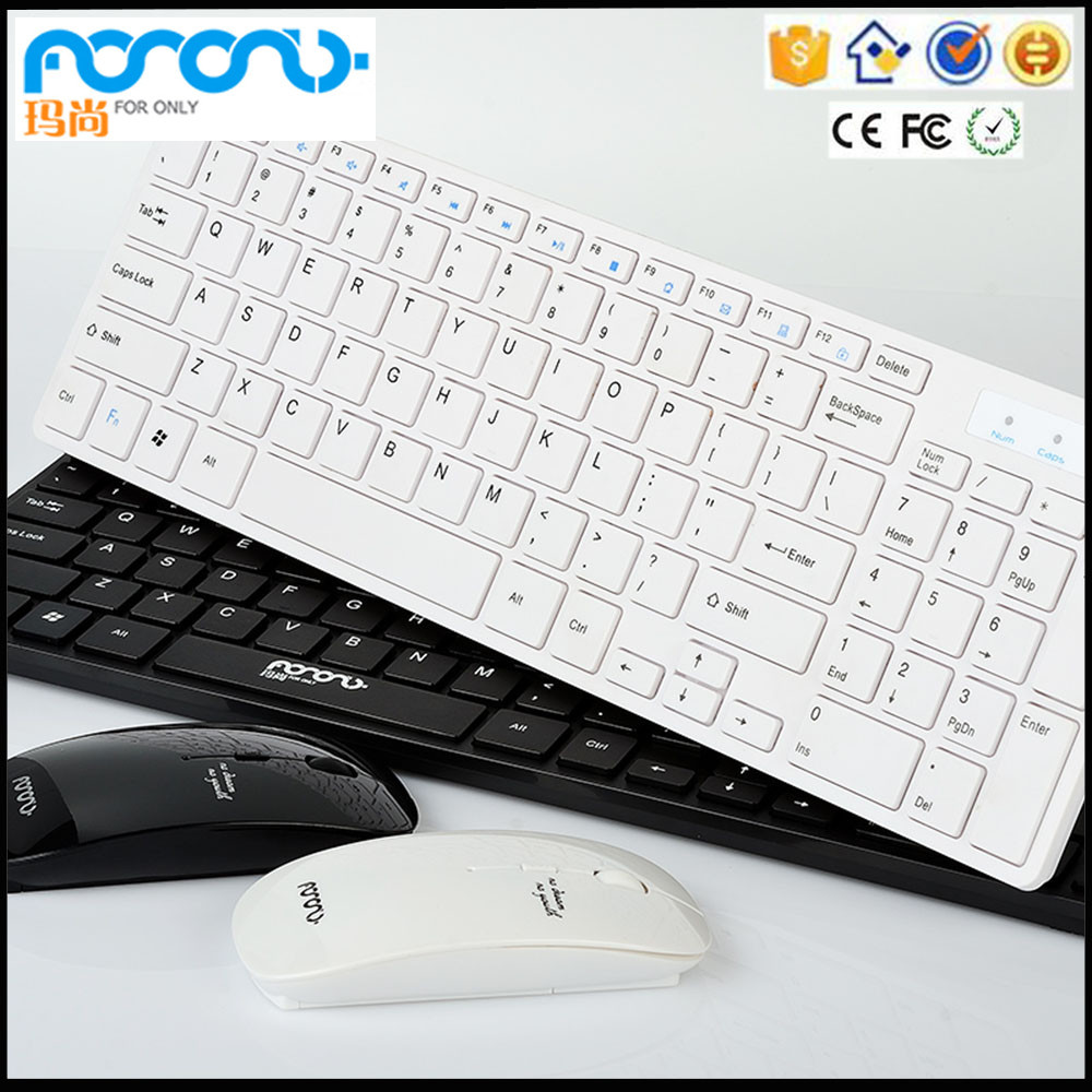 Keyboard And Mouse Combo, 2.4GHz Ultra Compact Wireless Whisper-Quiet Portable Keyboard / Mouse Combo No Laser Light Mouse With