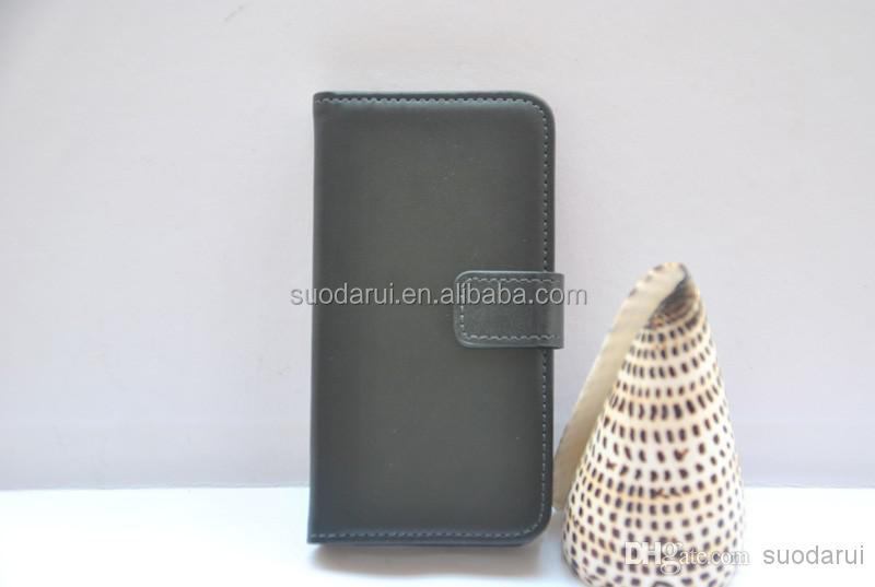 High Quality Luxury PU leather Flap wallet case for iphone 4 4s case