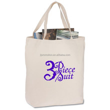 Fashion Durable simple design 100% Cotton Canvas Tote Bags