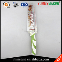 stainless steel kitchen knife floral print chef knives cooking tools