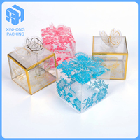 Clear pvc/pp/pet packing box with customized logo