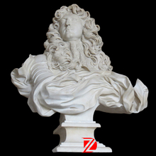 Marble Louis XIV bust sculpture