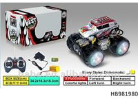 4chu RC fire emblem off-road car with colorful lights, include battery