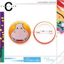 Hippo Big Smile Colorful Plastic Badge Tin Plated Make Your Own Badges